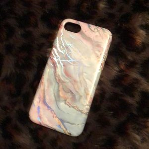 Holographic marble iPhone 8 case